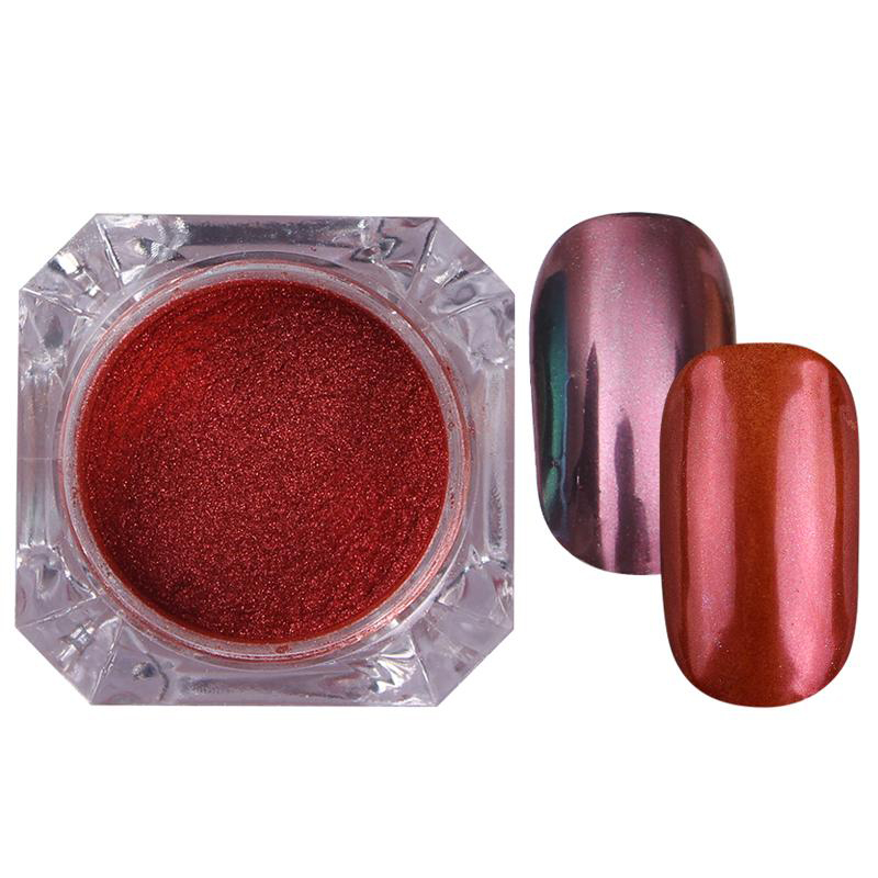 Rose Gold Bubble Mirror Powder Metallic Nail Glitter Holographics Chrome Dust Sparkling Flakes Pigment Manicur Nail Art Decor 72