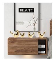 Креативное Золотое керамическое украшение в виде птицы подарок