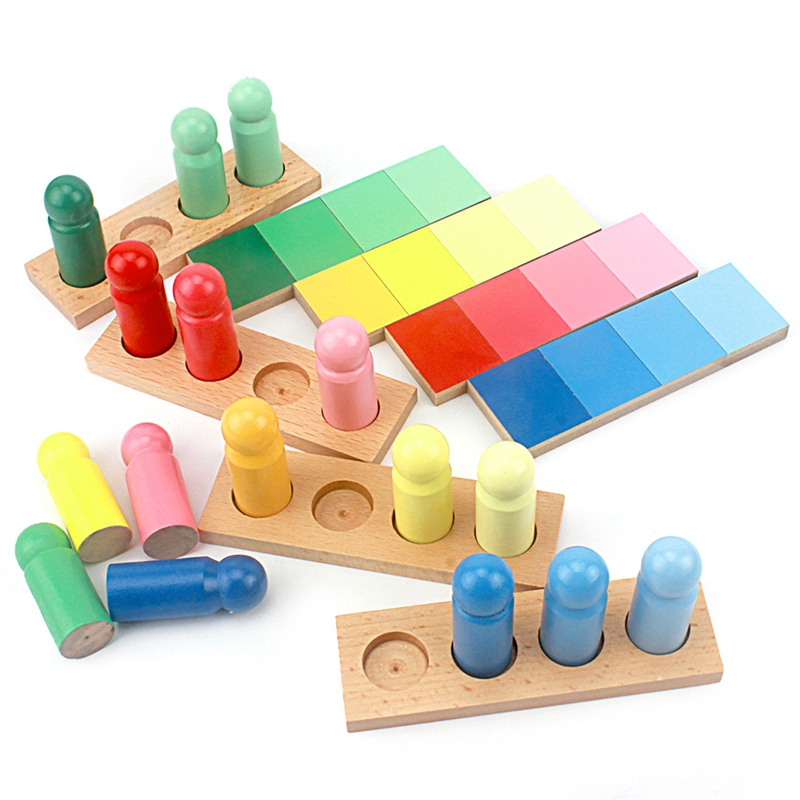Baby Toys Montessori Color Resemblance Sorting Task Wood Small Version Toys For Children Brinquedo Sensorial Toy Early Learning