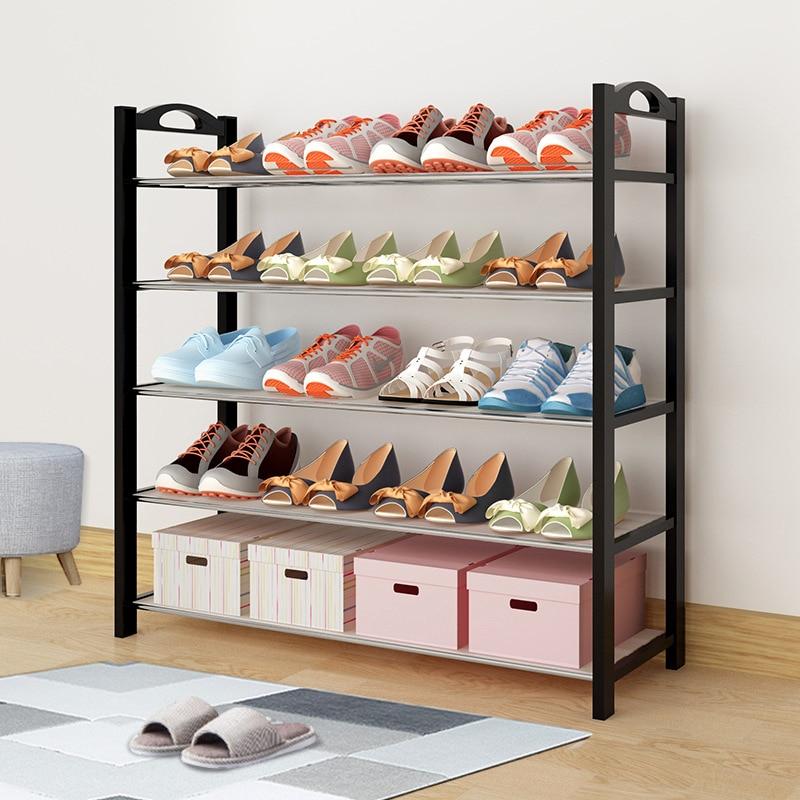 Simple Plastic Shoe Rack Dustproof Moisture Detachable Shelf Furniture Closed Door Shoes Storage Space-saving Shoe Stand Holder