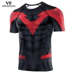 VIP FASHION 2020 Cosplay Fast-drying Fitness Raglan Short-sleeved T-shirt Men Movie Shirt Play The Costume T-shirt