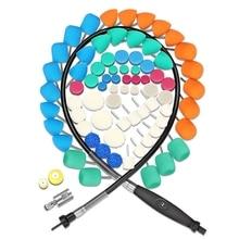 SPTA автомобильный мини полировальный набор инструментов для колес, фар и дверных ручек полировочные колодки гибкий вал для роторного полировщика