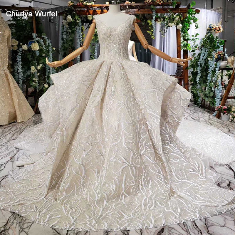 HTL692 ball gown wedding dress cathedral train lace up appliques pleat sleeveless  wedding dress boho vestidos de novia vintage