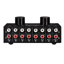Switcher 6 in 2 Out or 2 in 6 Out Headphone Speaker Switcher Stereo Sound Source Signal Selection Switcher, Interface Adopts RCA