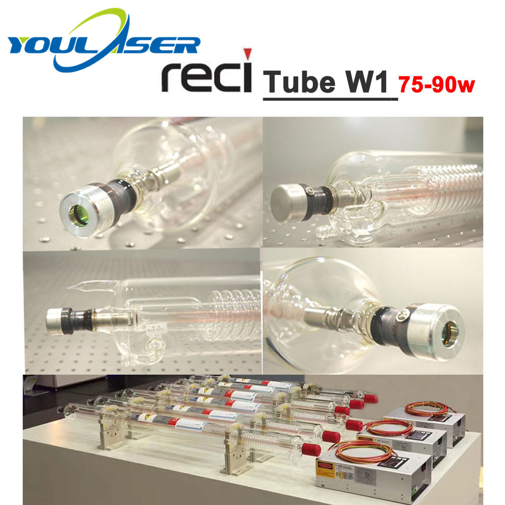 Reci W1 75W CO2 Laser Tube 75W-90W Length 1050mm Dia. 80mm For CO2 Laser Engraving Cutting Machine