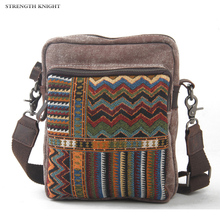 Ethnic Canvas Messenger Bag for Women National Shoulder Bag Female Casual Retro Flap Bag Mujer Embroidery Travel Crossbody Bag bonamie girl bohemian beach bag multilayer pocket women national crossbody bag female shoulder bag canvas flap messenger bags