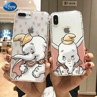 DISNEY-funda de silicona de Mickey Dumbo para IPhone 11 Pro, Xs, IPhone 11, silicona líquida oficial 2021, mascarilla facial completa, zz0505-11, 360