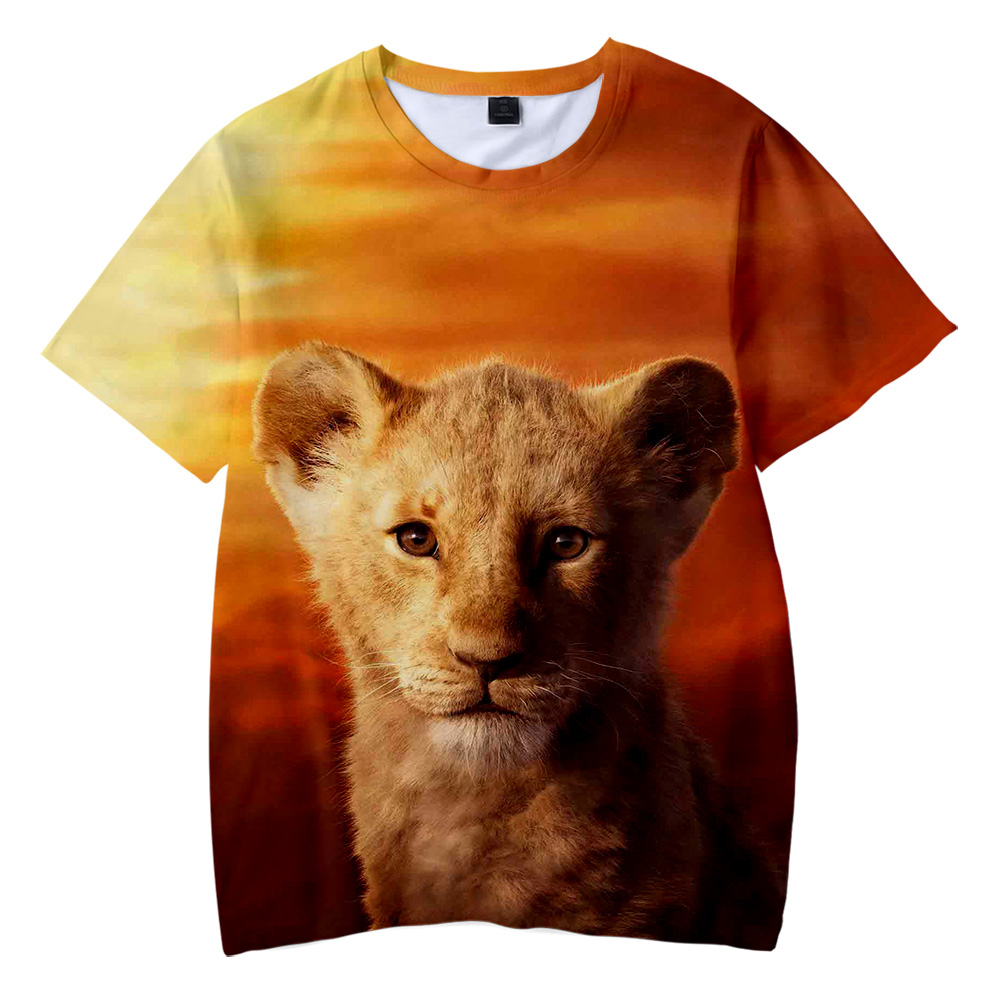 The Lion King Kid's T Shirt Boys Girls 2019 Hot Fashion Summer Soft Comfortable Kids T Shirt 3D Print Lion King Children T-shirt