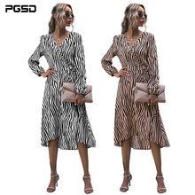 Pgsd осеннее женское платье 2020 повседневное длинное рубашка