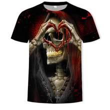 Engraado t camisa homem 3d alta definio crnio impresso hip-hop tshirt ocasional de fitness masculino roupas asiticas tamanhos