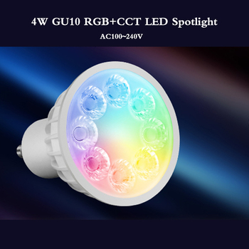 цена на New smart 4W GU10 LED Bulb Dimmable RGB+Warm White+White(RGB+CCT)Spotlight Indoor Living Room LED Lamp Light  can remote control
