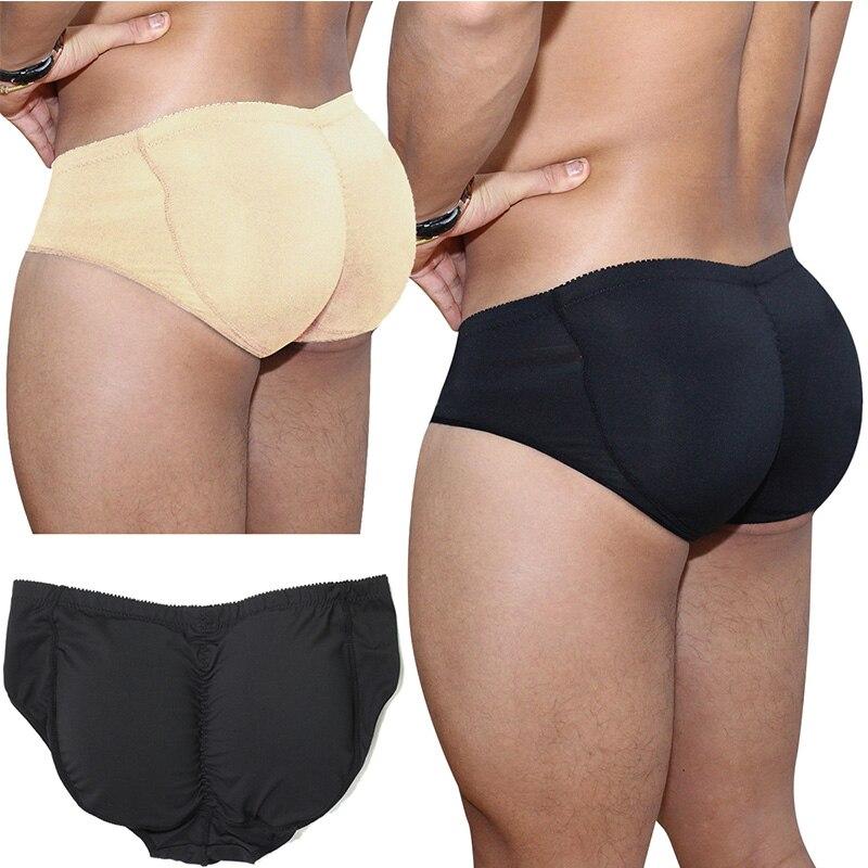 Men's Padded Underwear Butt Lifter Underwear Panties Strengthening Sexy Front + Back Hips Butt Lift Briefs Fake Ass Body Shaper