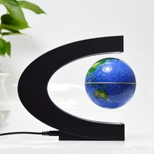 Floating Globe Magnetic Globe World Map Magnetic Levitation Globes C-Frame Led English  Version Blue Globe for Kids