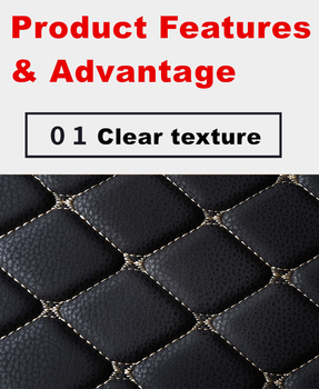 SJ High Side Waterproof Car Trunk Mat AUTO Tail Boot Tray Liner Cargo Rear Pad Parts Accessories For Mazda CX3 2017 2018 2019