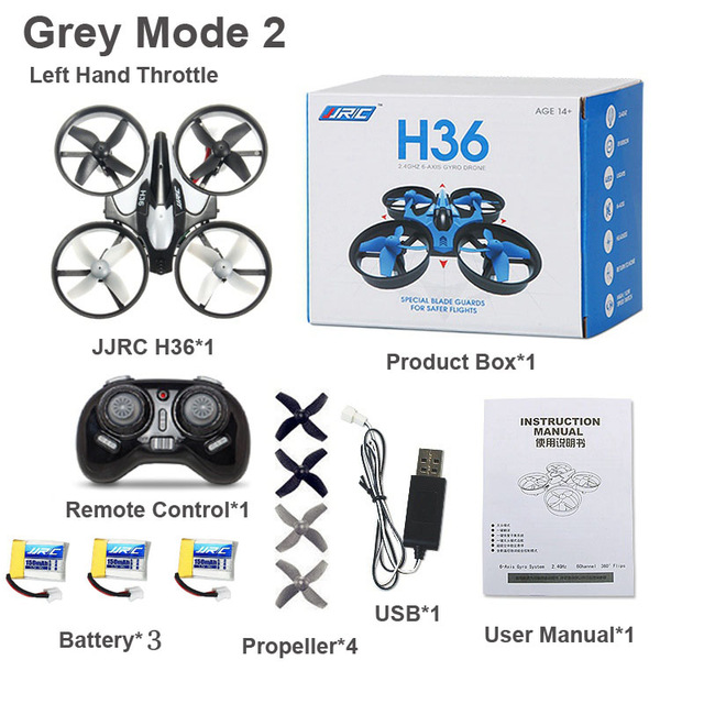 Mini Quadcopter H36 2.4G 4CH 6 Axis Speed 3D Flip Headless Mode RC Drone Toy Gift Present RTF VS Eachine E010 H8 Mini
