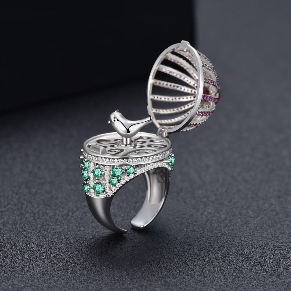 European And American Luxury New Ladies Creative Ring Birdie Can Rotate Personality Adjustable Index Finger Ring Wholesale Batch