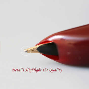 Hero 100 14K Gold Nib Classic Fountain Pen Authentic Quality Metal All Steel / Semi-Steel Outstanding Ink Pen Writing Gift Set