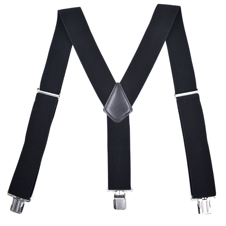 Cross Border Supply Of Goods Brand Adult Men Widened X-long Three Clip Suspender Strap Work Suspender Strap 5.0 Three Clip