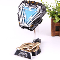 Avengers Iron Man Arc Reactor Database Marvel Mark 50 Iron Man Action Figure PVC Collectible Model Toy Decoration with LED
