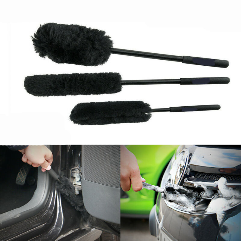 3Pcs Set <font><b>Car</b></font> Tire Rim <font><b>Wheel</b></font> Scrub Washing <font><b>Cleaner</b></font> <font><b>Brush</b></font> Vehicle Cleaning Tool image