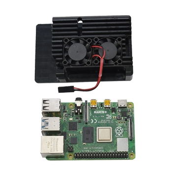 for Raspberry Pi 4B 2G RAM DIY Kit Support 2.4 / 5.0 GHz WIFI Bluetooth 5.0 with Protective Case Cooling Fan