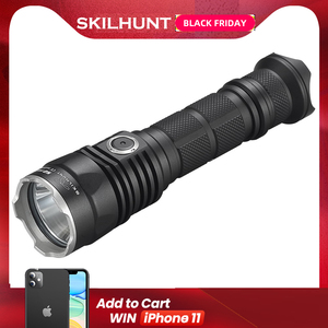 Image 1 - 2017 New SKILHUNT S2 PRO CREE XP L HD or HI LED USB rechargeable tactical 1250 Lumens / 1100 Lumens flashlight