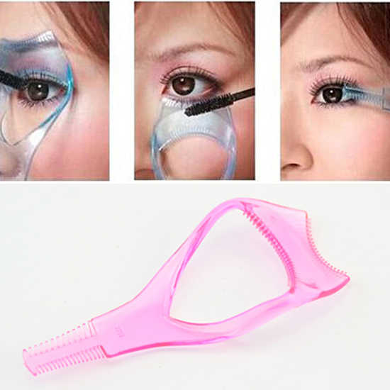 2019 sıcak satış bayanlar 3 In 1 makyaj göz maskara kirpik tarak aplikatör kılavuzu kart aracı faydalı makyaj aracı