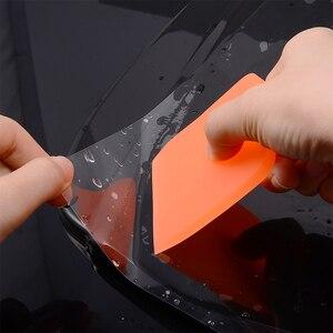 Image 3 - EHDIS 3 sztuk miękkie owijanie PPF skrobak z włókna węglowego winylowa naklejka na samochód TPU folia ochronna zainstalować ściągaczki Auto urządzenia do oczyszczania okien