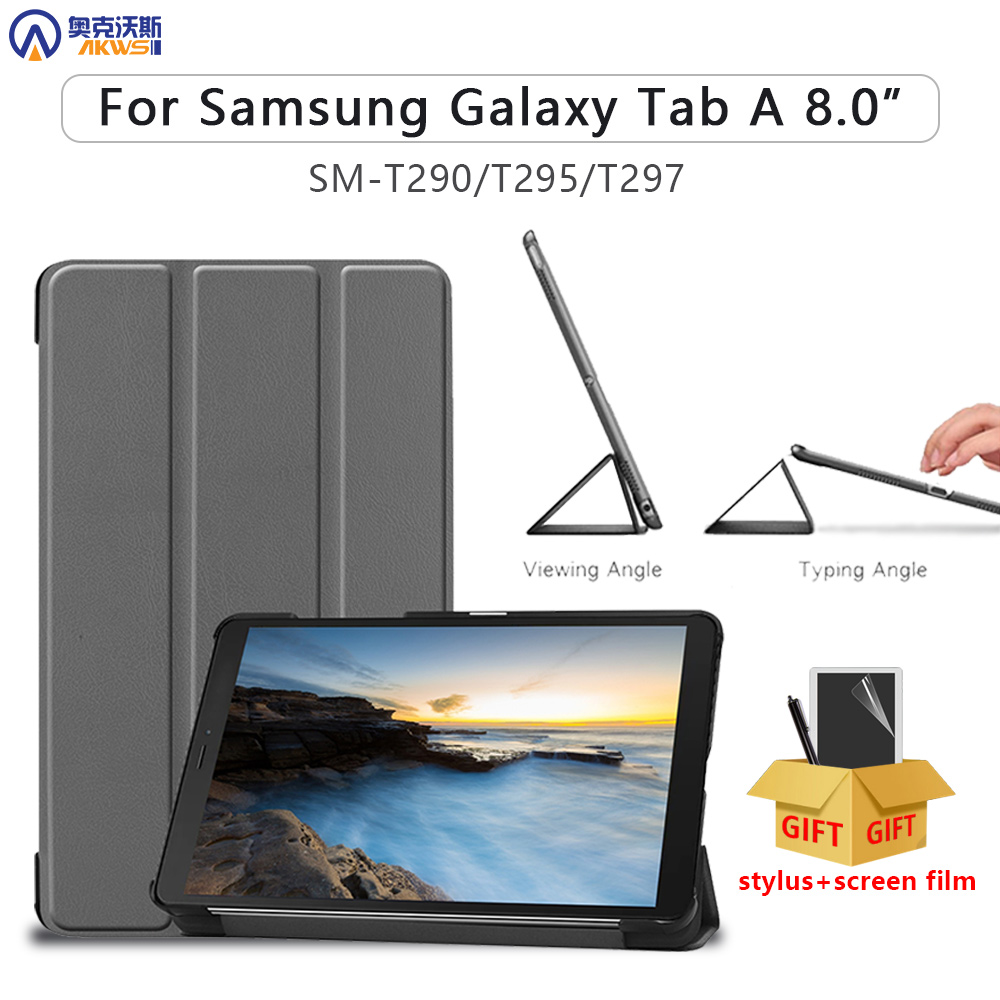 Tablet Case For Samsung Galaxy Tab A 8.0 SM-T290 T295 T297 2019 Cover For Galaxy Tab A 8.0 SM-T295 Protective Skin PU Leather