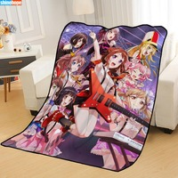 New Arrival BanG Dream! Blankets Printing Soft Nap Blanket On Home/Sofa/Office Portable Travel Cover Blanket