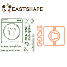 Eastshape Washing clear stamps and Die Word Birthday Metal Cutting Craft Frame New 2019 Scrapbooking Card Making Embossing