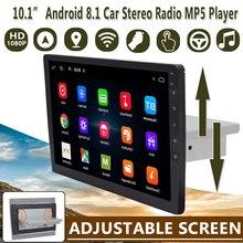 """Автомобильный мультимедийный плеер, 9 """"/10,1"""", стерео, 1Din, Android 8,1, с регулируемым экраном, Wi Fi, bluetooth, GPS, Nav, радио плеер"""