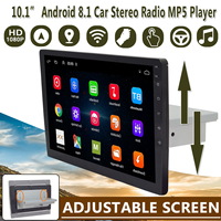 """9"""" / 10.1"""" Car Multimedia Player Stereo 1Din Android 8.1 with Up Down Screen Adjustable Wifi bluetooth GPS Nav Radio Player"""