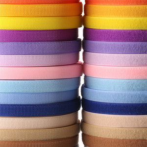 2cm 1Meter Pair Colorful Velcros Sticker Hook Loop Fastener Adhesive Tape Nylon Button Cable Ties Sewing Garment Bags Accessory