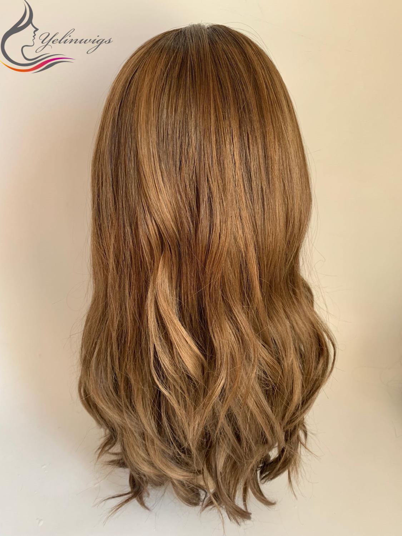 Natural Human Hair Jewish Wig Kosher Wig Fashion Color Wavy Top European Virgin Hair Wigs