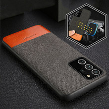 Kain Magnetic Ponsel Case untuk Samsung Galaxy Note 20 Ultra S20 S10 Plus Penutup Belakang Kasus Bisnis untuk Samsung A51 a71 A50s A30s(China)