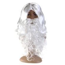 Neue Weiß Santa Claus Schnurrbart Hut Phantasie Kleid Kostüm Wizard Perücke Und Bart Set Weihnachten Hallowee Xmas Party Dekoration A30