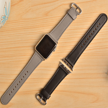 New Color Genuine Leather Band for apple watch 44mm 40mm 42mm 38mm Light Fashion Watchband bracelet Strap for iwatch 5 4 3 2 1 hoco new genuine leather 44 42 40 38mm watchband for apple watch 4 3 2 first layer cattle leather strap bracelet for iwatch