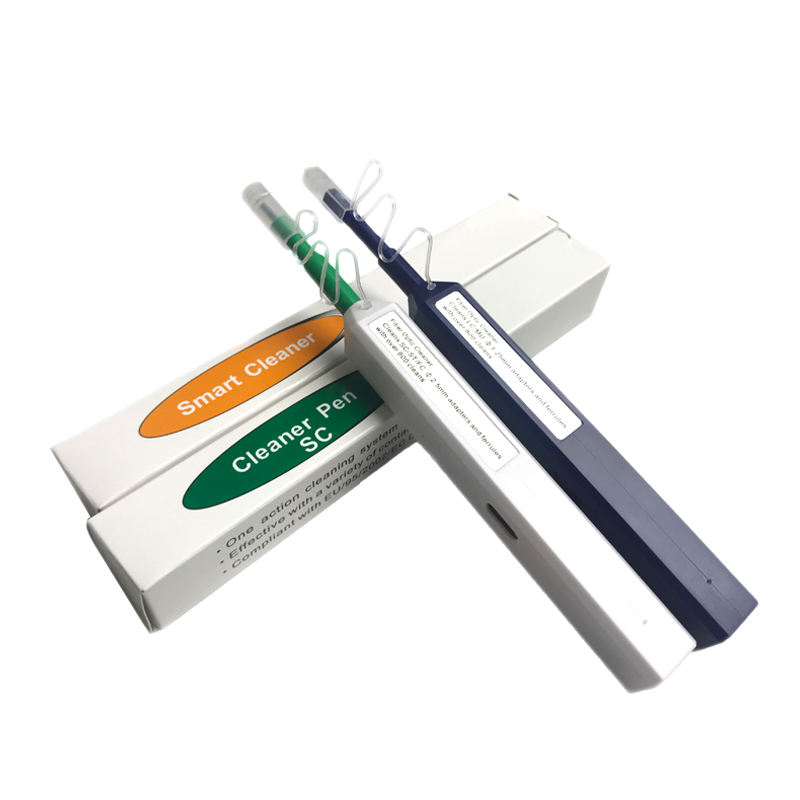 2 Pieces/Lot LC/SC/FC/ST One-Click Cleaner Tool 1.25mm And 2.5mm Fiber Optic Cleaning Pen 800 Cleans Fiber Optic Cleaner