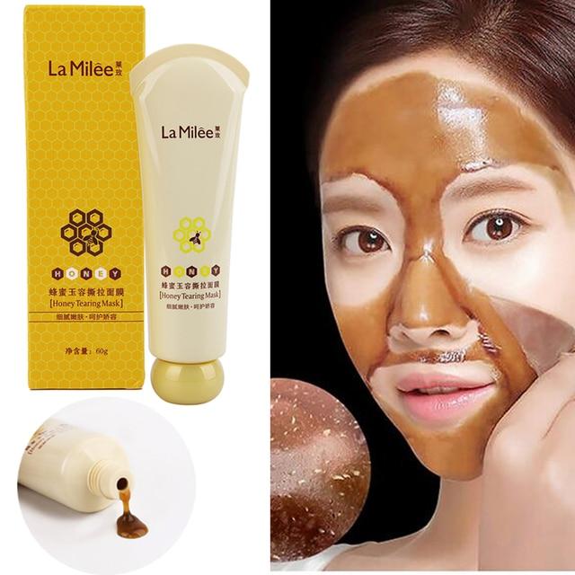 Hot Sales Honey Tearing  Peel Oil Control Blackhead Remover Peel Off Dead Skin Clean Pores Shrink Facial Face Skin