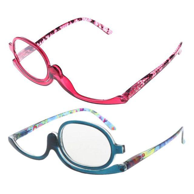 Women Makeup Reading Glasses Rotatable Flip Make Up Eye Glasses Presbyopic +1.00 To +4.0  1