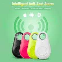 Mini rastreador GPS inteligente para niños, localizador inalámbrico de etiqueta de alarma antipérdida, con Bluetooth, resistente al agua, con llaves de perro y gato