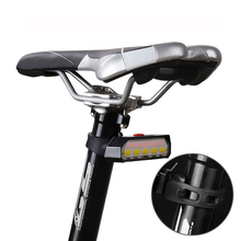 USB Rechargeable Bike Taillight COB Bicycle Rear Lamp Remote MTB Cycling Lantern with Control