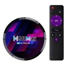 H96 MAX X4 TV, pudełko Android 10 Amlogic S905X4 2G 16G 4K 1080P 3D wideo odtwarzacz multimedialny 2.4G i 5G zestaw Wifi Top Box ue wtyczka