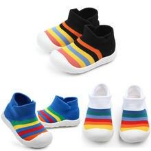 Кроссовки для мальчиков и девочек мягкая подошва дышащие радужные