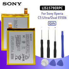 SONY Original Phone Battery For Sony Xperia C5 Ultra Dual Z3 Plus Z4 E5506 E5553 E5533 E5563 E6553 LIS1579ERPC 2930mAh + Tools смартфон sony xperia c5 ultra dual e5533 белый