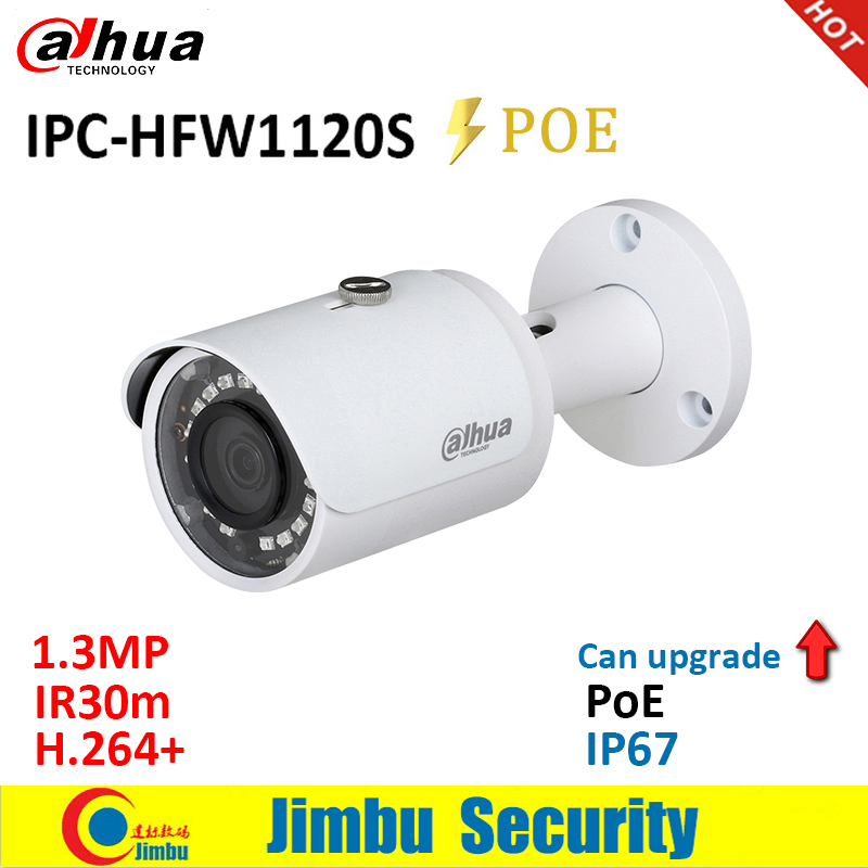 Dahua  IP Camera 1.3MP IPC-HFW1120S POE IR30m H.264+ Waterproof IP67 English Firmware Can Be Upgraded Bullet Camera  CCTV