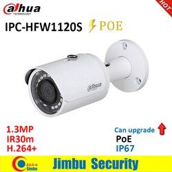 Kamera IP Dahua 1.3MP IPC HFW1120S POE IR30m H.264 + wodoodporna IP67 angielskie oprogramowanie sprzętowe może być ulepszona kamera typu bullet CCTV w Kamery nadzoru od Bezpieczeństwo i ochrona na
