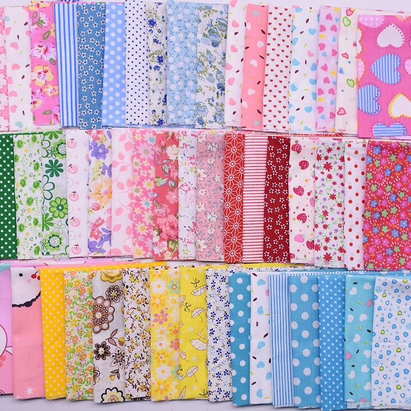 7pcs//Set 25x25cm Square Cotton Fabric Patchwork Cloth Quilting Craft Sewing DIY