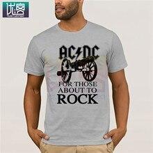 Мужская футболка AC & DC для тех, кто любит рок, Классическая Летняя Стильная мужская креативная футболка с коротким рукавом, винтажные футбол...